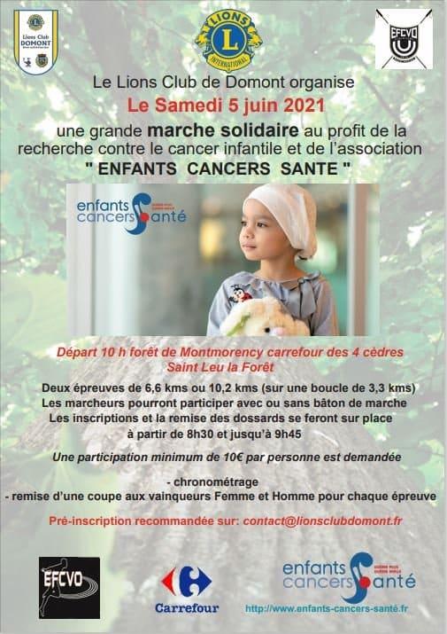 Marche solidaire au profit d'Enfants Cancers Santé